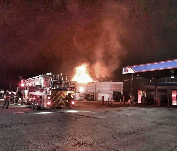 Indiana Truck Stop Catches Fire Overnight